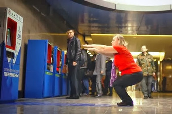Subway Ticket Machine in Moscow Accepts 30 Squats | Healthy Recipes and Tips for Healthy Living | Scoop.it