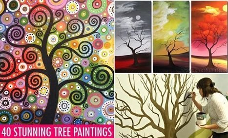 35 Stunning and Beautiful Tree Paintings for your inspiration | Visual Inspiration | Scoop.it