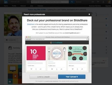 Partager du contenu de Linkedin sur SlideShare désormais simplifié | Actus Marketing & Communication pour l'immobilier | Scoop.it