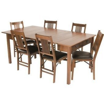 Mission Style Expanding Dining Table in Fruitwood Best Deal | Sport Outdoor | Scoop.it