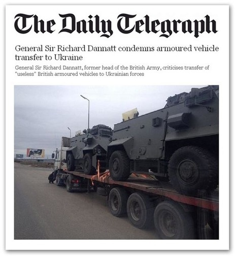 Les Anglais livrent des armes aux Ukrainiens! | SAUVER LA FRANCE | Scoop.it