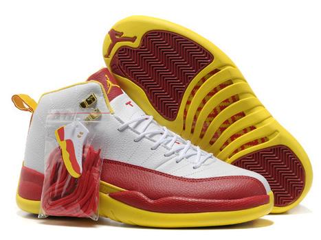 Jordan Retro 12 White Red Yellow - Cheap Jordan 12,Cheap Nike Foamposite,Cheap Lebron 11,Cheap Nike Run 3,Cheap Retro 11,12,13 Jordans!   cheap jordan retro 12 for sale on cheapjordan12.org   Scoop.it