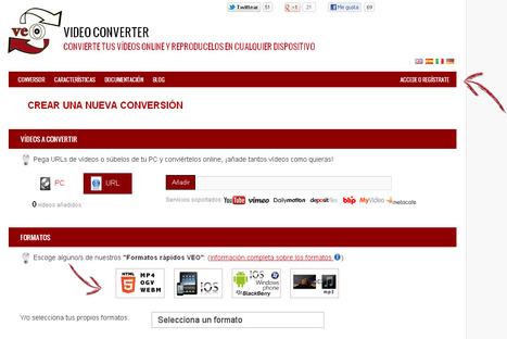 Conversor de vídeo online para reproducirlos en cualquier dispositivo | EDUDIARI 2.0 DE jluisbloc | Scoop.it