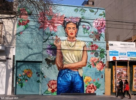 Frida Kahlo mural in Buenos Aires | BA Street Art | Street Art and Street Artists | Scoop.it
