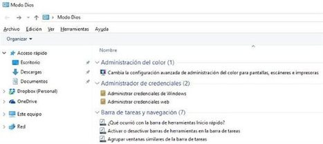 Activa el Modo Dios de Windows 10 | Recursos i Eines | Scoop.it