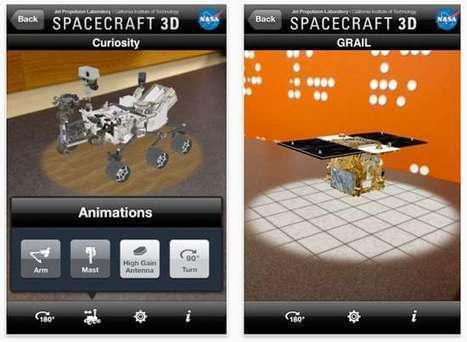 "NASA's Augmented Reality iPad App Brings Space Robots to Life | La ""Réalité Augmentée"" (Augmented Reality [AR]) 