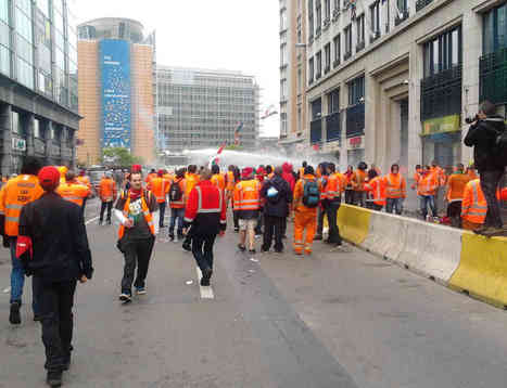 ETUC 4th April Brussels demo notable for cross-Europe representation | NUJ Brussels | EU journalism | Scoop.it
