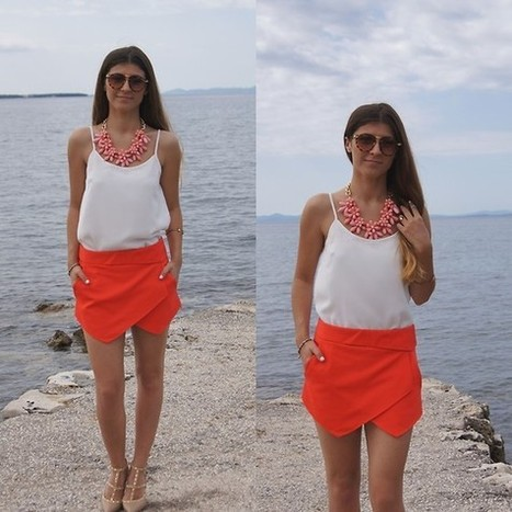 Tamy - Saptac Cipelama Necklase, New Yorker Shirt, Zara Shorts, Cavallino Shoes - Seaside | LOOKBOOK | special scoops | Scoop.it