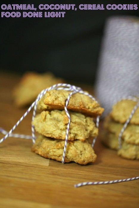 Oatmeal, Coconut, Cereal Cookies   Food Done Light   Mincir Autrement   Scoop.it