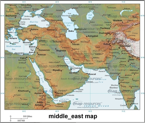 Middle-East-Map.jpg (1865x1583 pixels) | West Bank | Scoop.it