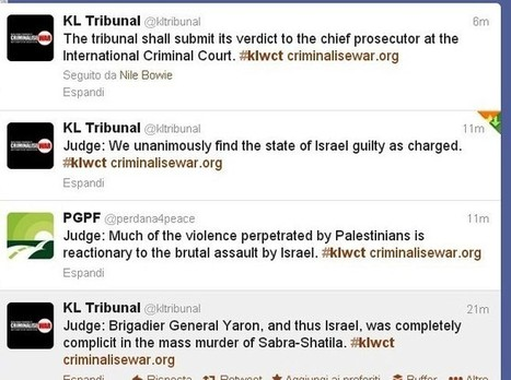 #KLWCT pronounces:  #Israel & Yaron Guilty of genocide   PALESTINIANS & ISRAELIS   Scoop.it