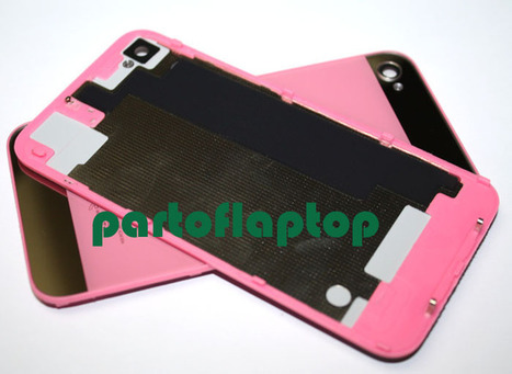 Pink iPhone 4S GLASS Battery Door Back Cover w/ iPhone 5 Style+open TOOLS   iPhone 4S Battery Cover With  iPhone 5 Style   Scoop.it