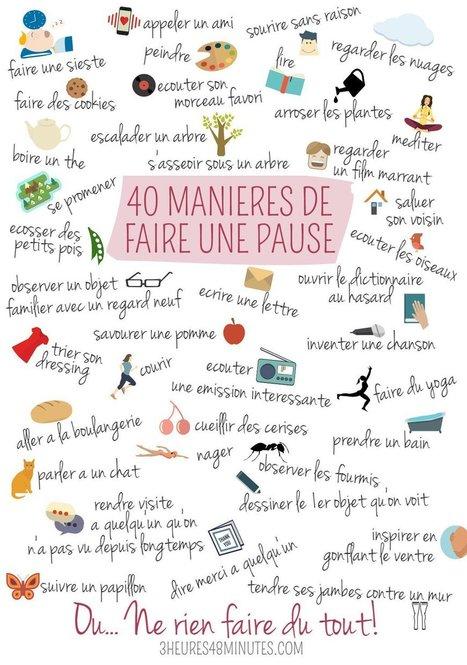 40 manières de faire une pause | FLE enfants | Scoop.it
