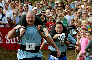 Top 10 Evil Sports - TIME  - 10. Wife-Carrying Races | Finland | Scoop.it