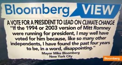 "Michael Bloomberg, Mayor of New York City: ""Why I'll Be Voting For President Barack Obama"" 