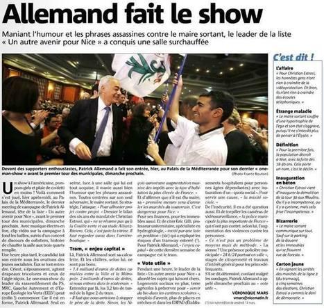 Patrick Allemand fait le show   Nice 2014, Un autre Avenir pour Nice avec Patrick Allemand   Scoop.it