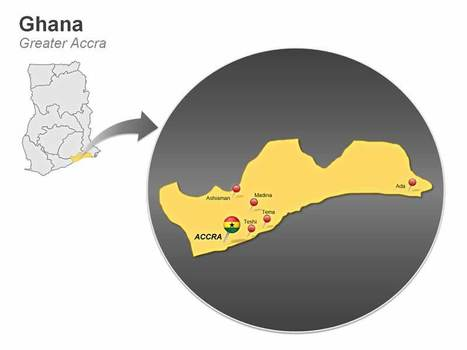 Ghana Editable PowerPoint Map | Education Development and Community Transformation | Scoop.it