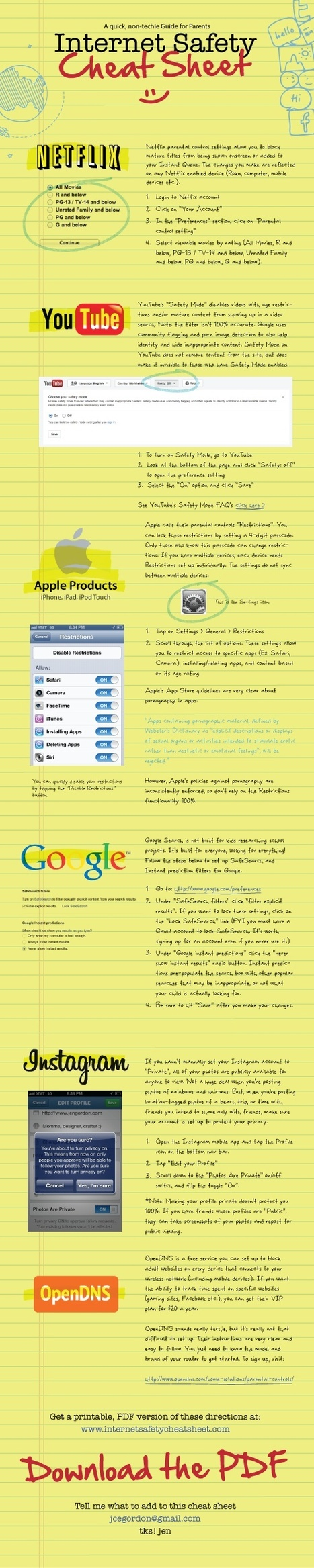 An Outstanding Internet Safety Cheat Sheet for Teachers and Parents   JOIN SCOOP.IT AND FOLLOW ME ON SCOOP.IT   Scoop.it