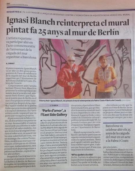 Ignasi Blanch reinterpreta el mural pintat fa 25 anys al mur de Berlí. | Roquetes | Scoop.it