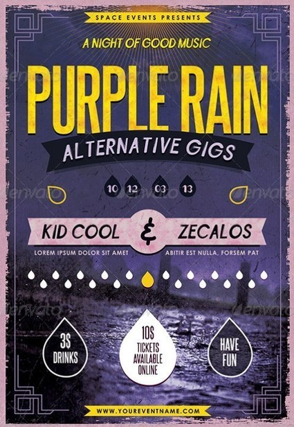 35 Amazing Gig Poster/Flyer Templates | Vandelay Design Blog | local music news: festival edition | Scoop.it