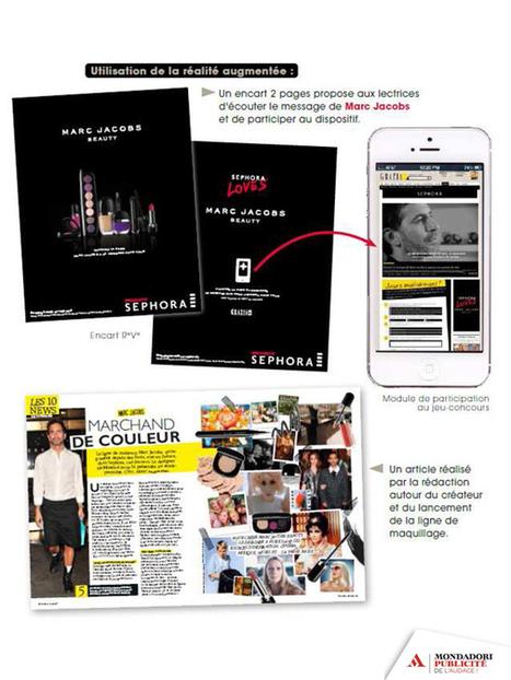 Une opération spéciale en réalité augmentée couplée à des contenus dans Grazia pour Sephora - Offremedia | Réalité augmentée and e-commerce | Scoop.it