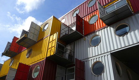 "Shipping container ""cities"" bring creative, funky approach to green construction 
