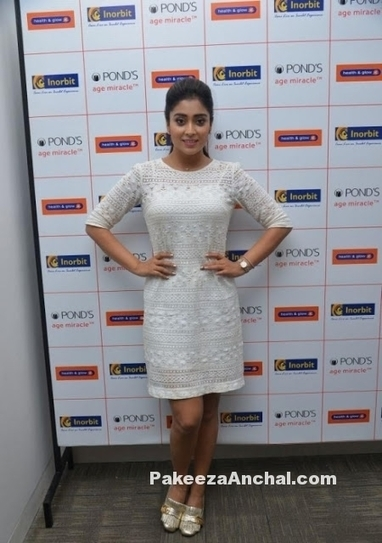 Shriya Saran in White Netted Knee Length Skirt at Ponds Age Miracle Promotion | Indian Fashion Updates | Scoop.it