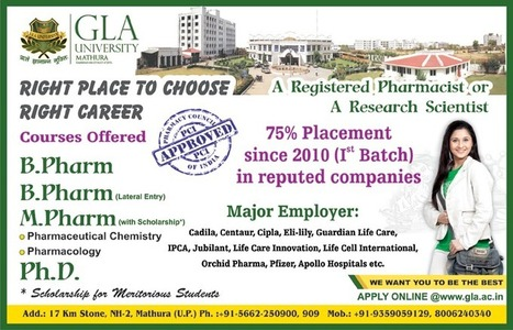 Pharmaceutical Courses in UP | Education , Colleges | Scoop.it