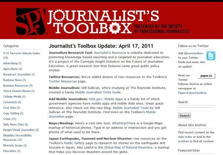 Journalist's Toolbox | Social media kitbag | Scoop.it
