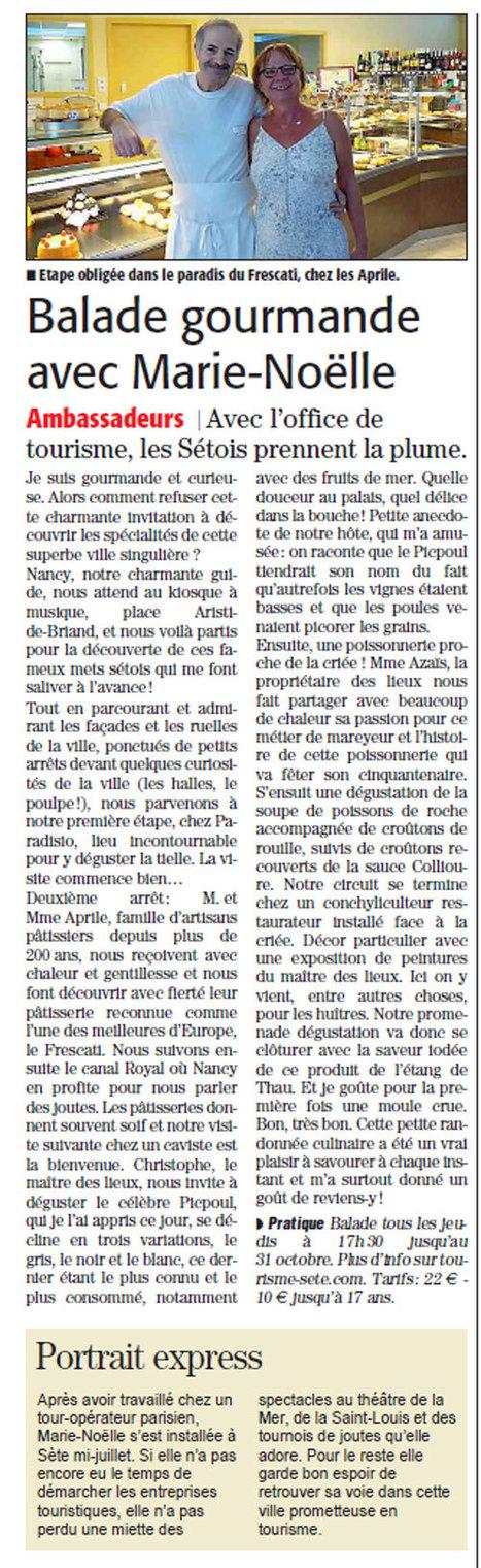 Balade gourmande à Sète | Sète Tourisme : les ambassadeurs-reporters sur le terrain | Scoop.it