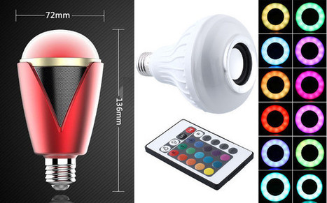 $16 and Up RGB LED Bluetooth 4.0 Light Bulbs include Speakers | Embedded Systems News | Scoop.it