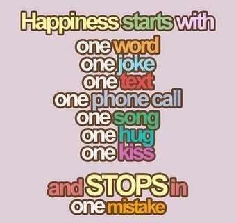 Sometimes Happiness Stops with One Mistake | The Best Quotes of All Time | Scoop.it