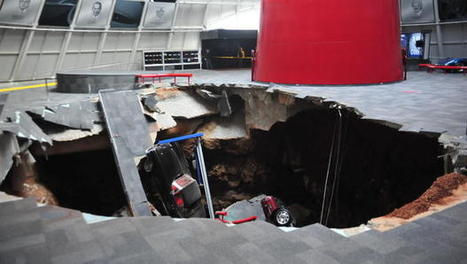 Sinkhole swallow eight cars in National Corvette Museum in Kentucky | Upsetment | Scoop.it