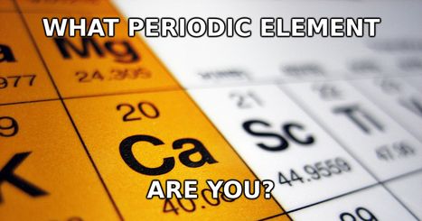 What Periodic Element Are You? | Química | Scoop.it
