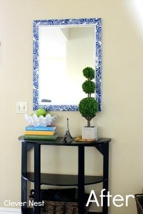 Decorare la cornice di uno specchio usando i to - Specchio senza cornice ...