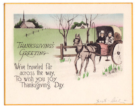 """""""Happy Thanksgiving"""" with a Vintage Thanksgiving Post Card 