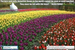 The best and most beautiful things in the world cannot be seen or even touched. They must be felt with the heart. -- Helen Keller   Psychic Readings Source   Scoop.it