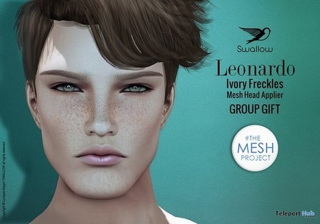 Leonardo Ivory Freckles TMP Head Applier Group Gift by Swallow | Teleport Hub - Second Life Freebies | Second Life Freebies | Scoop.it