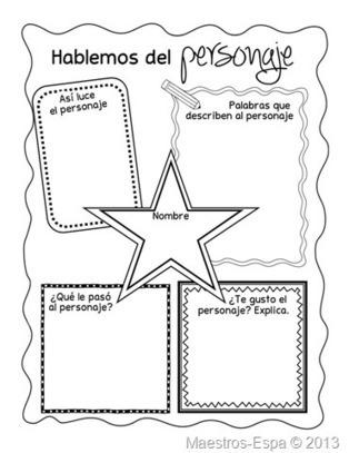 Recursos para maestros de español: Hablemos del personaje (organizador) | COMPETENCIAS Y PROYECTOS | Scoop.it