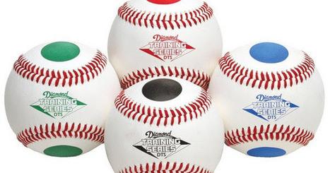 Color Dotted Training Baseballs (Set) | sports equipments | Scoop.it