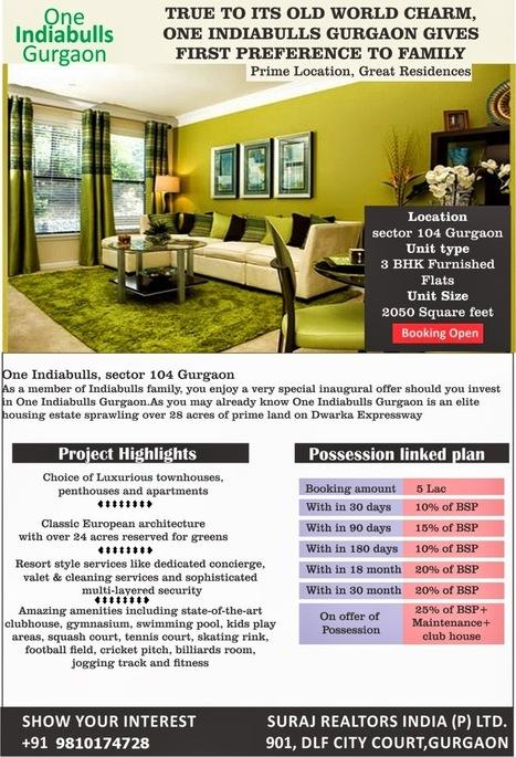 High Class Living, ONE INDIABULLS GURGAON, Ultra Luxury project in sec 104,Call -9810174728 | Call- 9810174728, One IndiaBulls gurgaon sec 104 | Scoop.it