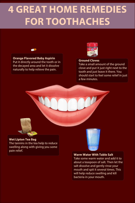 Infographics Great Home Remedies for Toothaches | Toothache | Scoop.it