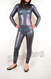 Grey Shiny Metallic Catsuit [C20290] - $46.00 : Shop Zentai Suits Full Bodysuits And Catsuits From Zentaing.com | zentai catsuit lycra | Scoop.it