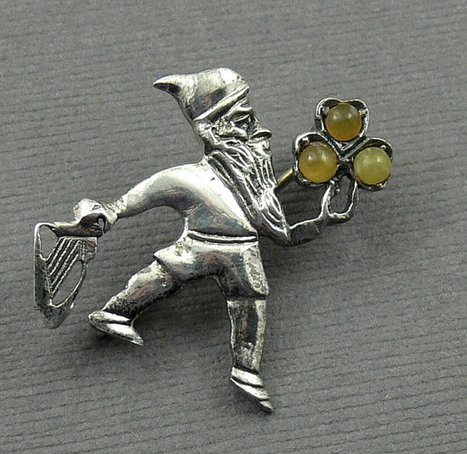 Vintage Sterling Silver Leprechaun Pin | Gorgeous Vintage I Crave! | Scoop.it
