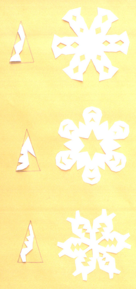 Paper Snowflakes - Free Instructions | HCS Fine Arts | Scoop.it