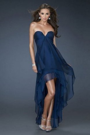 Navy Strapless Layered High Low Cocktail Dresses by La Femme 18048 [La Femme 18048] - $159.00 : La Femme Outlet, 60% Off La Femme Sale Online | gownprincess | Scoop.it