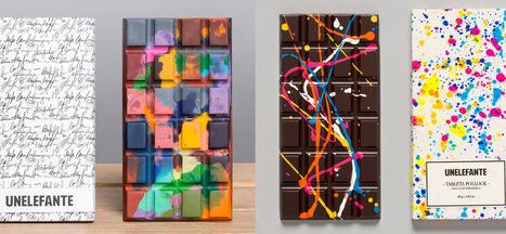 Edible Crayon & Paint Splattered Chocolate Bars by Unelefante #art #chocolate #design #colour #foodart | Luby Art | Scoop.it