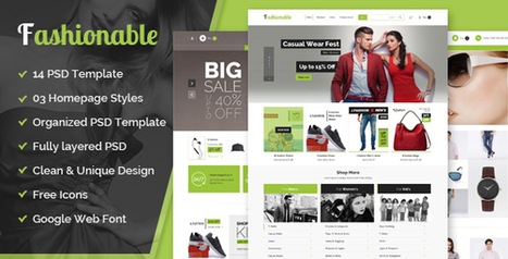 Glorywebs proud to launch Fashionable– eCommerce PSD Template! | Wed Design | Scoop.it