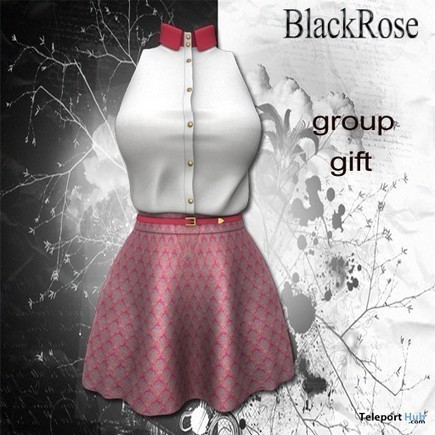 Pink Skirt and White Top May 2015 Group Gift by BlackRose | Teleport Hub - Second Life Freebies | Second Life Freebies | Scoop.it