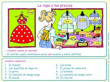 La ropa y los precios (el verbo costar) | Español para los más pequeños | Scoop.it